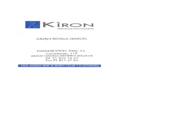 KIRON-NAVALGESTIÓN 2006, S.L.