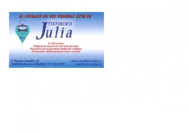 TINTORERÍA JULIA