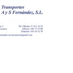 TRANSPORTES A Y S FERNÁNDEZ, S.L.